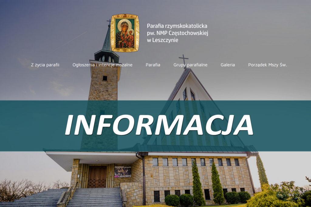 Komunikat w związku z kwarantanną ks. Proboszcza